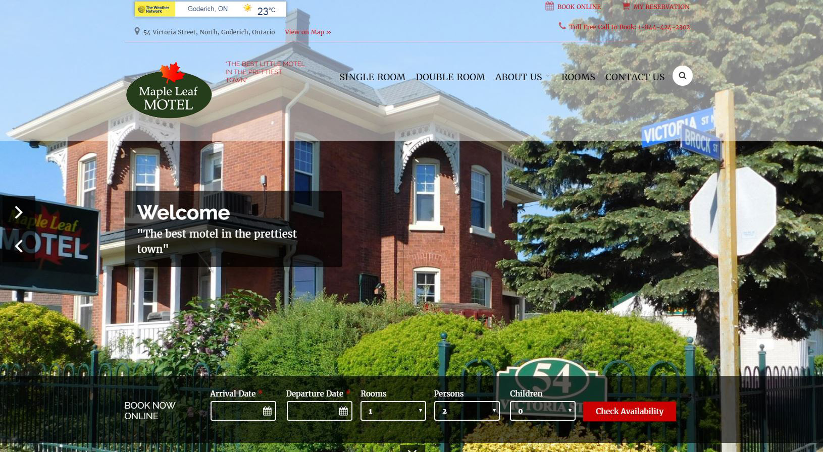 The Maple Leaf Motel in Goderich