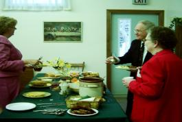 Fellowship and food seem to be a good combination