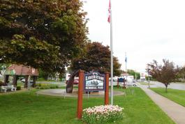 New park signs at Liberation Memorial Park, Goderich