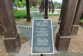 Liberation plaque unveiled at Liberation Memorial Park, Goderich