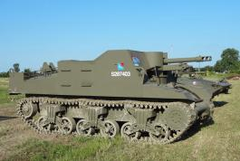 Sexton self propelled artillery tracked vehicle