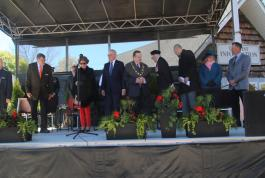 Princess Margiet and dignitaries in Goderich Liberation Memorial Park