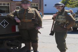Canadian Army re-enactment soldiers in Goderich