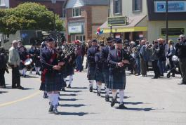 Goderich Celtic Blue band march in parade