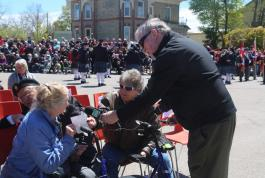 Veterans interviewed by media in Goderich