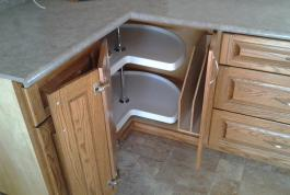 Let us build a lazy Susan into your cabinets