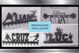 Personalized metal hangers